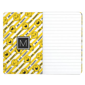 Mr Happy | Yellow Stripes Pattern | Monogram Journals