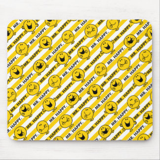 Mr Happy | Yellow Stripes Pattern Mouse Pad