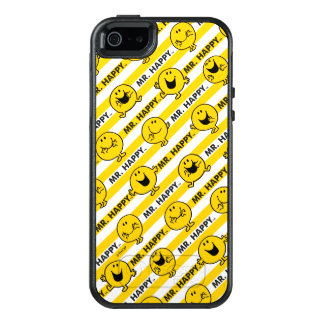 Mr Happy | Yellow Stripes Pattern OtterBox iPhone 5/5s/SE Case