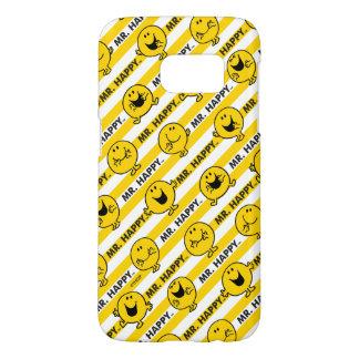 Mr Happy | Yellow Stripes Pattern Samsung Galaxy S7 Case