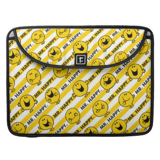 Mr Happy | Yellow Stripes Pattern Sleeve For MacBooks