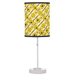 Mr Happy | Yellow Stripes Pattern Table Lamp