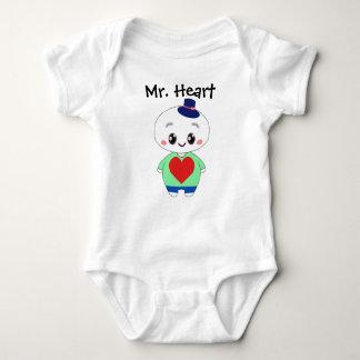 Mr. Heart baby bodysuit