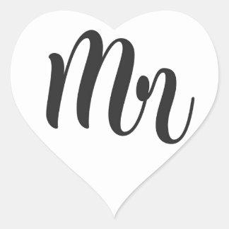 Mr Heart Sticker