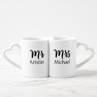 Mr. Her & Mrs. Him Personalized Coffee Mug Set