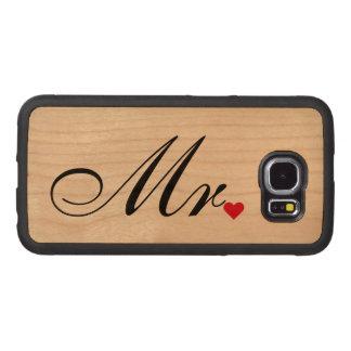 Mr Husband Groom Wedding Couples Samsung Wood Case