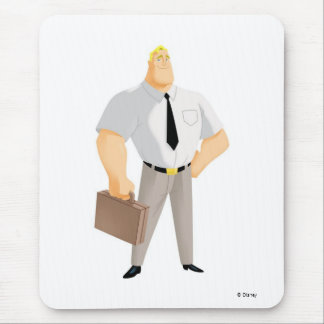 Mr. Incredible plain clothes civilian briefcase Mouse Pad