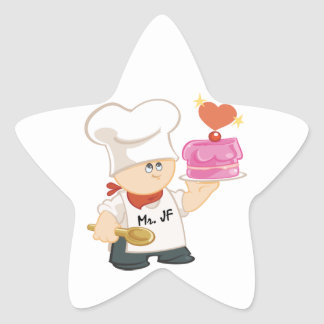 Mr. Junky Food Star Sticker