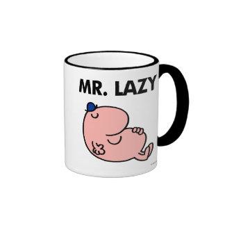 Mr. Lazy Snoozing Away Ringer Coffee Mug