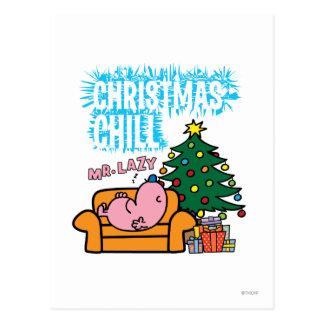 Mr. Lazy's Christmas Chill Postcard