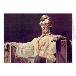 Mr. Lincoln Looks Down Thank You Card