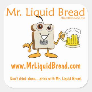 Mr. Liquid Bread Square Stickers
