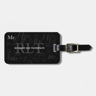 Mr. luggage tag , black