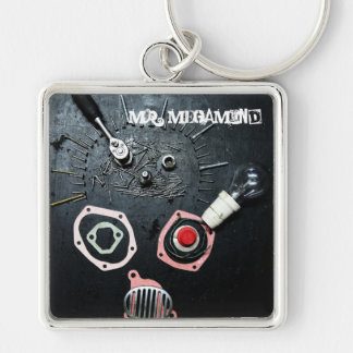 MR. MEGAMIND Silver-Colored SQUARE KEYCHAIN