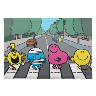 Mr. Men Abbey Road Walkers Placemat