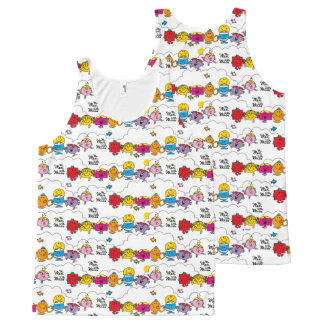 Mr Men & Little Miss | All In A Row All-Over-Print Tank Top