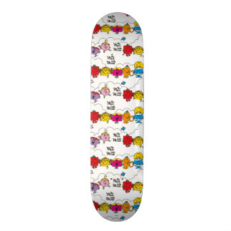 Mr Men & Little Miss | All In A Row Skate Deck