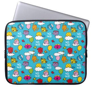 Mr Men & Little Miss   Birds & Balloons In The Sky Laptop Sleeve