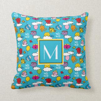 Mr Men & Little Miss | Birds & Balloons In The Sky Throw Pillow