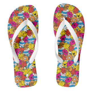 Mr Men & Little Miss | Bright Smiling Faces Flip Flops