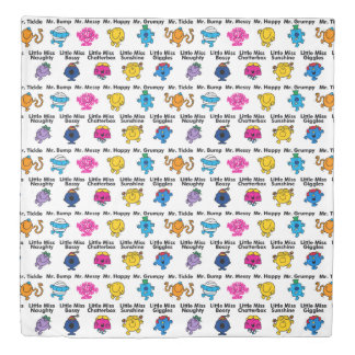 Mr Men & Little Miss | Character Names Duvet Cover