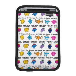 Mr Men & Little Miss   Character Names iPad Mini Sleeve