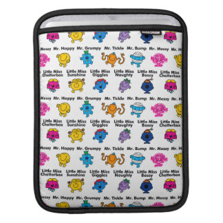 Mr Men & Little Miss | Character Names iPad Sleeve