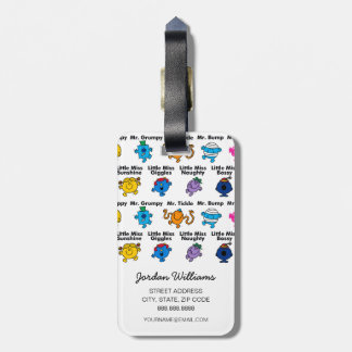 Mr Men & Little Miss | Character Names Luggage Tag