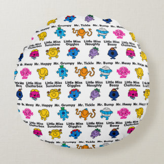Mr Men & Little Miss | Character Names Round Pillow