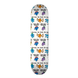 Mr Men & Little Miss | Character Names Skate Board Deck
