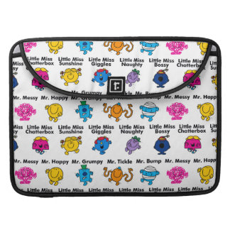 Mr Men & Little Miss | Character Names Sleeve For MacBook Pro