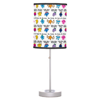 Mr Men & Little Miss | Character Names Table Lamp