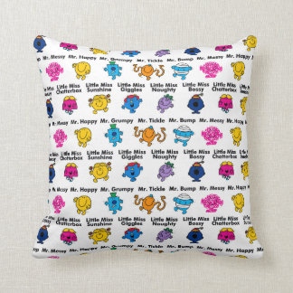 Mr Men & Little Miss | Character Names Throw Pillow