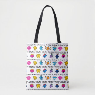 Mr Men & Little Miss | Character Names Tote Bag