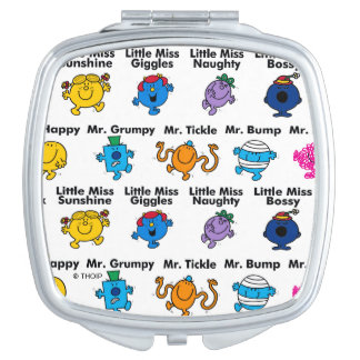 Mr Men & Little Miss | Character Names Vanity Mirror
