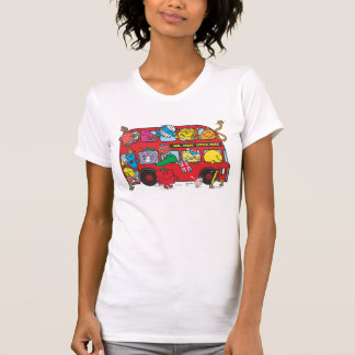 Mr. Men & Little Miss Crowded Bus Tee Shirts