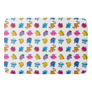 Mr Men & Little Miss | Dancing Neon Pattern Bath Mat