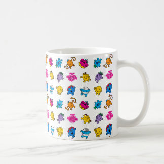 Mr Men & Little Miss | Dancing Neon Pattern Coffee Mug