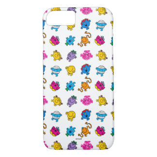 Mr Men & Little Miss | Dancing Neon Pattern iPhone 8/7 Case