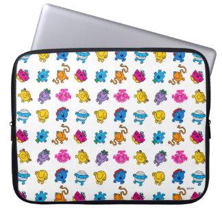 Mr Men & Little Miss   Dancing Neon Pattern Laptop Sleeve
