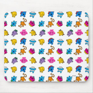 Mr Men & Little Miss | Dancing Neon Pattern Mouse Pad