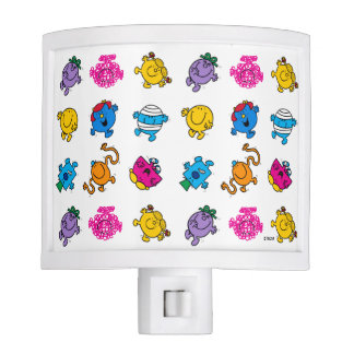 Mr Men & Little Miss | Dancing Neon Pattern Nite Light