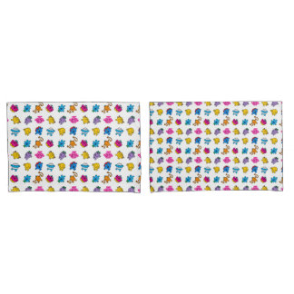 Mr Men & Little Miss | Dancing Neon Pattern Pillowcase
