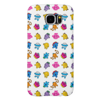 Mr Men & Little Miss | Dancing Neon Pattern Samsung Galaxy S6 Cases