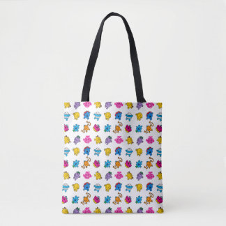 Mr Men & Little Miss | Dancing Neon Pattern Tote Bag