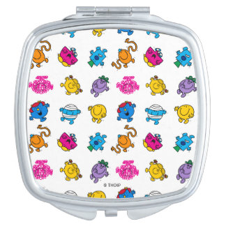 Mr Men & Little Miss | Dancing Neon Pattern Travel Mirror