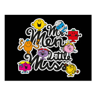 Mr. Men Little Miss | Group Logo Postcard