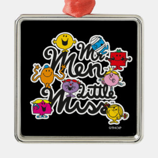Mr. Men Little Miss | Group Logo Silver-Colored Square Ornament