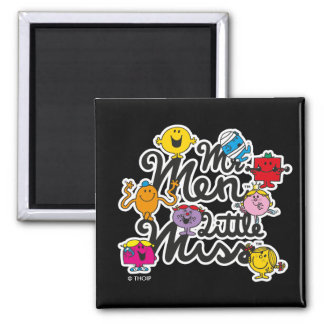 Mr. Men Little Miss | Group Logo Square Magnet