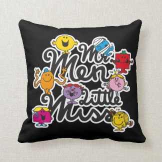 Mr. Men Little Miss | Group Logo Throw Pillow